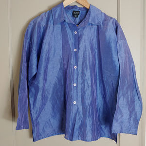 Eileen Fisher Organza Style Linen Top